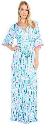 Lilly Pulitzer Parigi Maxi Dress (Emerald Isle Pineapple of My Eye) Women's Dress