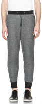 Robert Geller Fabric Combo Sweatpant in Black