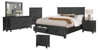 Gracie Oaks Gutshall Platform 6 Piece Bedroom Set Gracie Oaks Bed Size: California King