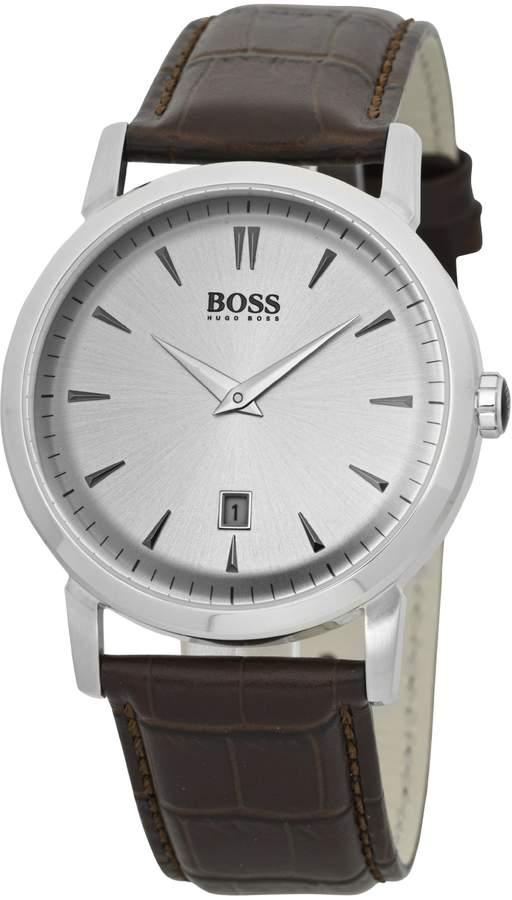 HUGO BOSS Men's 1512636 Leather Leather Analog Quartz Watch