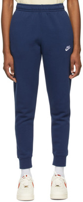 Nike Navy Fleece Sportswear Club Lounge Pants