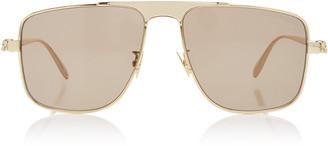 Alexander McQueen Sunglasses Aviator-Style Metal Sunglasses