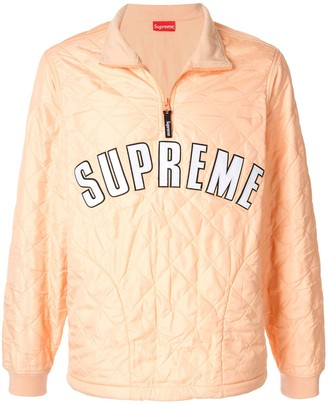 Supreme Arc Logo Quilted Pullover