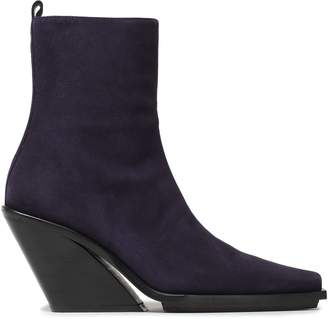 Ann Demeulemeester Suede Wedge Boots