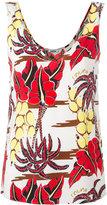 P.A.R.O.S.H. floral print tank - women - Silk/Spandex/Elastane - XS