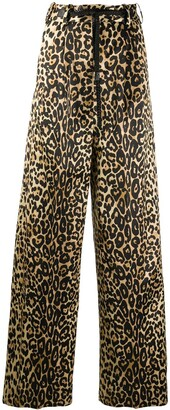 Tom Ford Leopard Print Wide-Leg Trousers