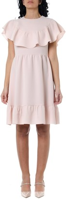 RED Valentino Crepe Dress In Rose Color
