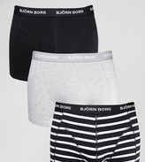 Bjorn Borg 3 Pack Trunks Stripe