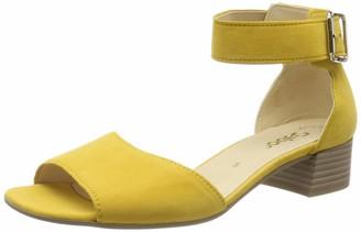 Gabor Shoes Women's Fashion Ankle Strap Block Heels Sandals Yellow (Sun 10) 8 UK