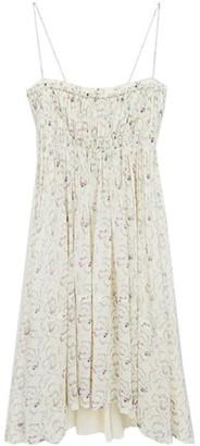 Chloé Floral Silk Gathered Dress