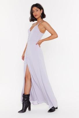 Nasty Gal Womens Don'T Take Any Slit Plus Button-Down Maxi Dress - Black - 4, Black