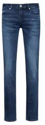 HUGO Slim-fit jeans in blue comfort-stretch denim