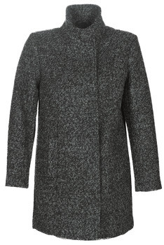 Cream KUKIMAI women's Coat in Grey
