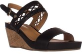 Tommy Hilfiger Jenesis Platform Wedge Sandals, Black.
