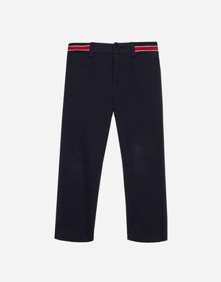Dolce & Gabbana Jersey Pants With Jacquard Logo