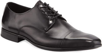 Kenneth Cole Men's Leather Cap-Toe Derby Shoes