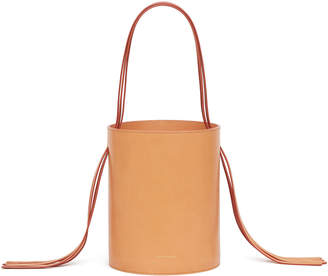 Mansur Gavriel Vegetable-Tanned Fringe Bucket Bag