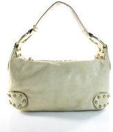 Kooba Beige Leather Stud Detail Shoulder Handbag Size Small