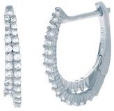 Crislu Hoop La-La Sterling Silver and Platinum Hoop Earrings