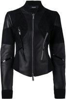 DSQUARED2 fitted moto jacket - women - Leather/Polyamide/Polyurethane/Viscose - 38