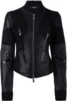 DSQUARED2 fitted moto jacket - women - Leather/Polyamide/Polyurethane/Viscose - 40