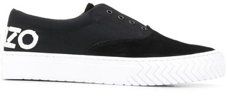 Kenzo Suede-Panel Low-Top Trainers