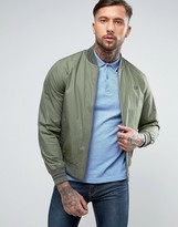 Fred Perry Tramline Bomber Jacket In Olive