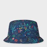 Paul Smith Men's Navy 'Botanical Jungle' Print Swim Bucket Hat