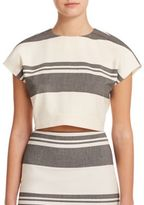 Elizabeth and James Colton Striped Cropped Top