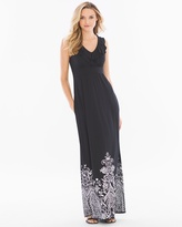 Soma Intimates Soft Jersey Ruffle Trim Sleevless Maxi Dress