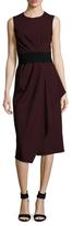 Narciso Rodriguez Wool Gab Draped Midi Dress