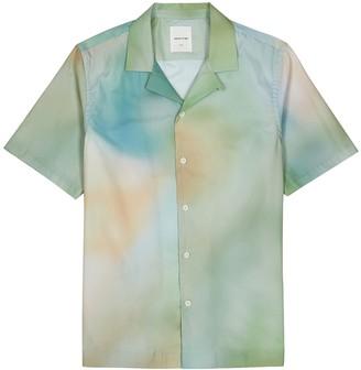 Wood Wood Brandon tie-dyed cotton shirt