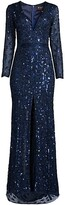 Thumbnail for your product : Mac Duggal Plunging Neckline Evening Gown