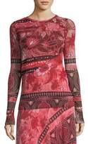 Fuzzi Stamp Patchwork Long-Sleeve Top