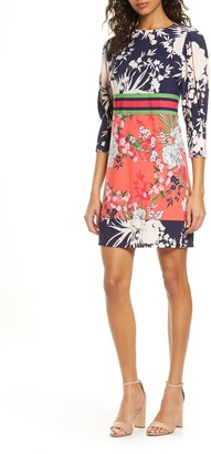 Vince Camuto Mixed Floral Shift Dress