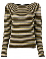 Sonia Rykiel boat neck striped top