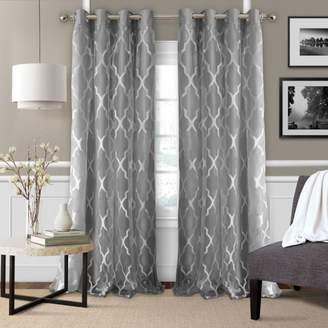 "Bethany Geometric Overlay Blackout Curtain Panel, 52"" x 84"""
