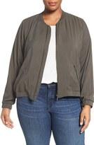Sejour Plus Size Women's Bomber Jacket