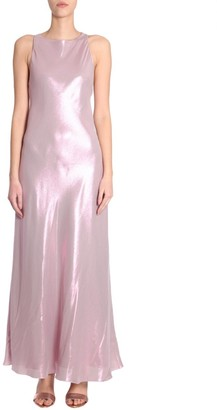 Alberta Ferretti Shimmery Sleeveless Dress