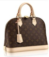 Louis Vuitton Authentic Canvas Alma PM Tote Handbag Article:M53151 Made in France
