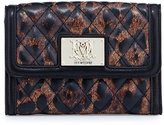 Moschino Nero Leopard-Print Quilted Faux-Leather Wallet