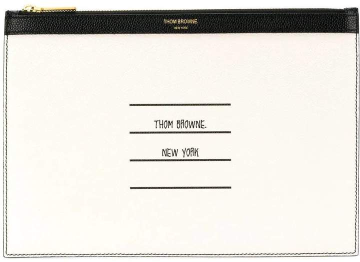 Thom Browne paper tablet holder white