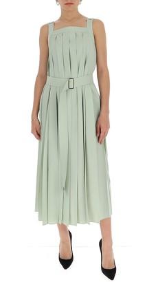 Max Mara Pleated Belted Dress
