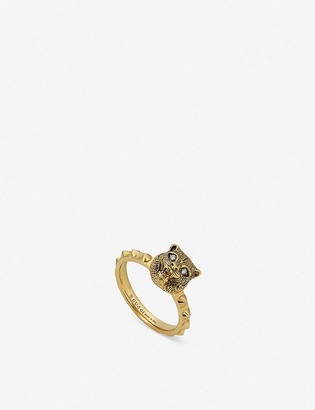 Gucci Le Marche des Merveilles 18ct yellow-gold and diamond ring