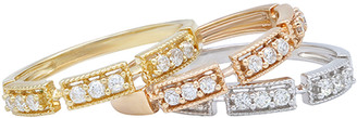 Diana M Fine Jewelry 14K Tri-Color 0.51 Ct. Tw. Diamond Ring