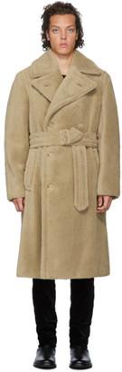 Ralph Lauren Purple Label Tan Alpaca-Blend Cuddle Coat
