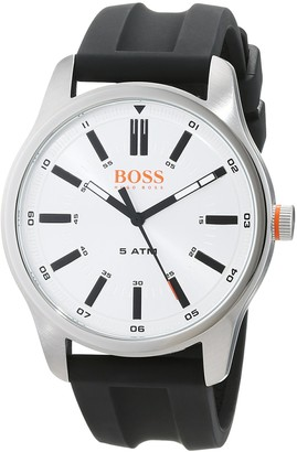 HUGO BOSS Mens Analogue Classic Quartz Watch with Leather Strap 1550043
