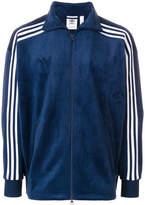 adidas velour striped sleeve jacket