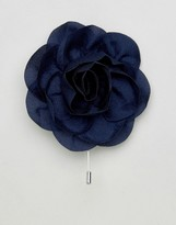 Asos Wedding Flower Lapel Pin in Navy