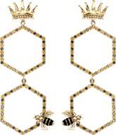 Alison Lou Queen Bee Drop Earrings
